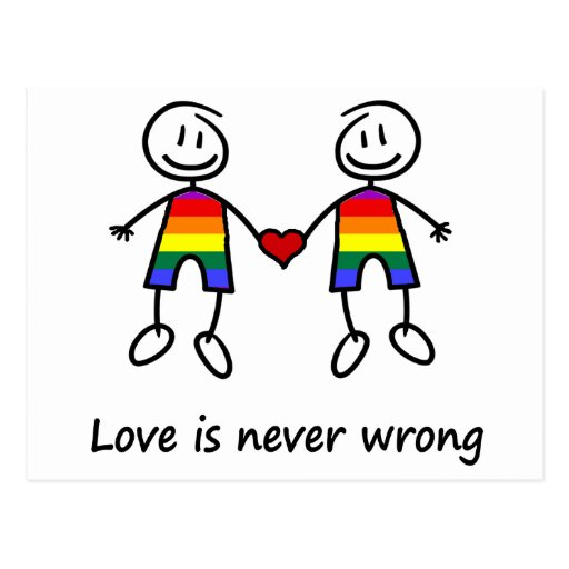 Love is Never Wrong Postcard