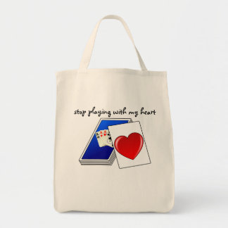 Love is Not a Card Game Slop Playing with My Heart Tote Bag