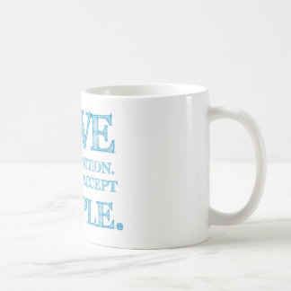 LOVE is not a definition - blue letters mug