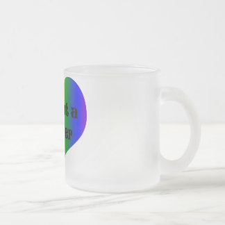 Love is Not a Gender Frosted Glass Coffee Mug