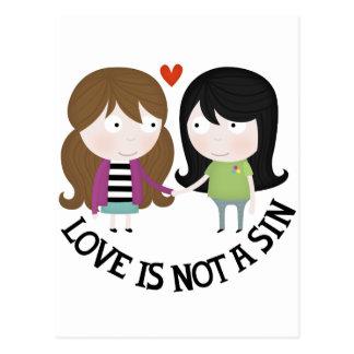 Love is not a sin postcard
