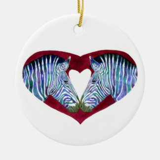 """Love is Not Black & White"" Zebra Ornament"