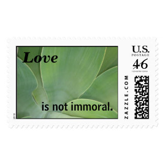 Love... is not immoral. postage stamps
