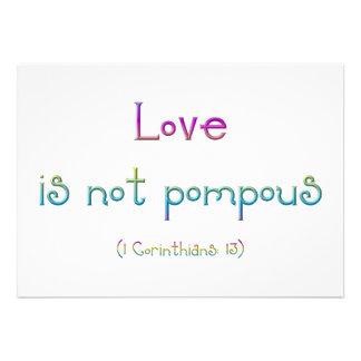 Love is not pompous personalized announcement