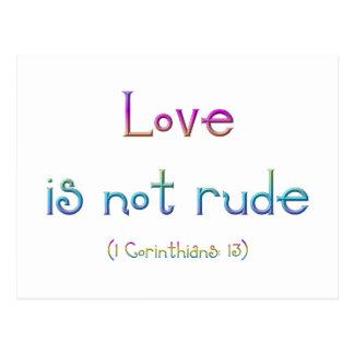 """Love is not rude"" Postcard"