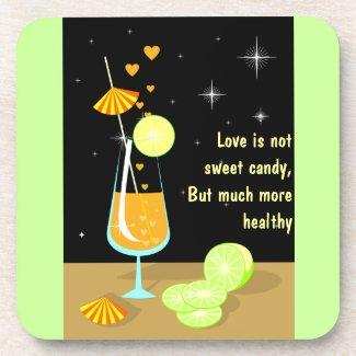 Love is not sweet candy Custom Cork Coaster fuji_coaster