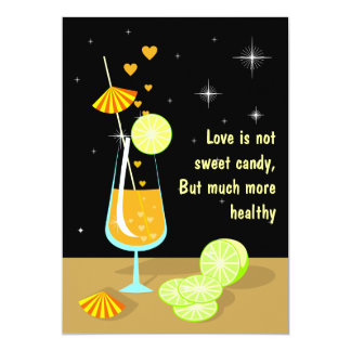 Love is not sweet candy Custom RSVP Invitation