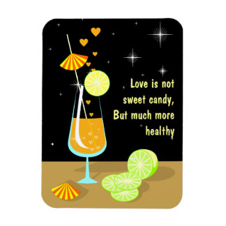 Love is not sweet candy Premium Magnet