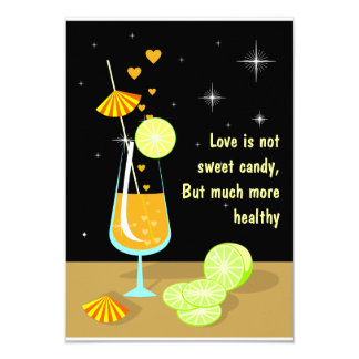 Love is not sweet candy RSVP Invitation