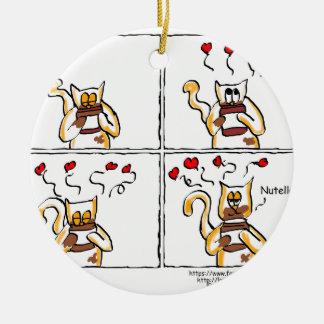 Love is Nutella Ceramic Ornament