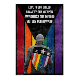 Love is our Shield, Bravery our Weapon Posters