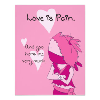 Love is Pain (Keiko) - Pack of Valentines 4.25x5.5 Paper Invitation Card