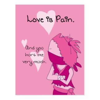 Love is pain - Keiko valentine Postcard