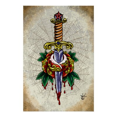 STYLE and PAIN TATTOO Love is Pain Print by jabwai.