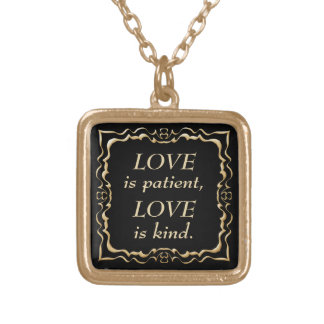 Love is Patient and Kind Gold Christian Gold Plated Necklace