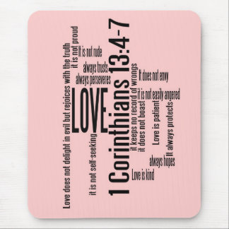 Love is Patient Blish Pink Mouse Pad