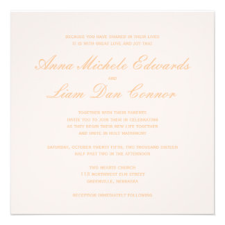 Love is patient.. blush & gold calligraphy heart custom announcements