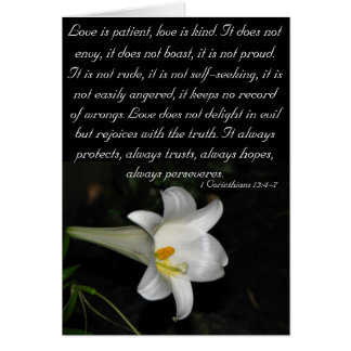 Love is patient... greeting card