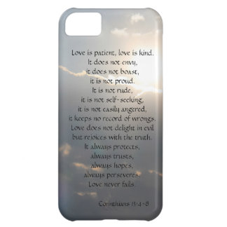 Love is Patient, Corinthians verse, clouds iPhone iPhone 5C Case