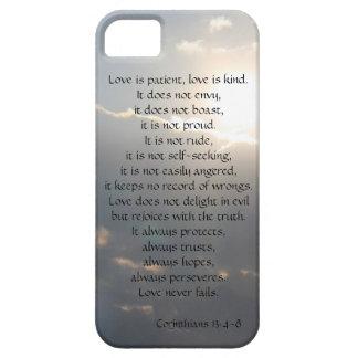 Love is Patient, Corinthians verse, clouds iPhone iPhone SE/5/5s Case