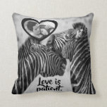 "Love is patient ""customizable back to back"" throw pillow"