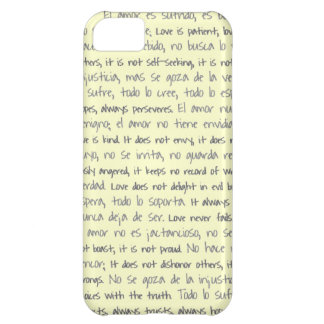Love is Patient, El Amor is Sufrido Bilingual Cover For iPhone 5C