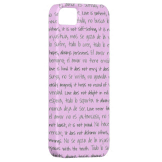 Love is Patient, El Amor is Sufrido Bilingual iPhone SE/5/5s Case