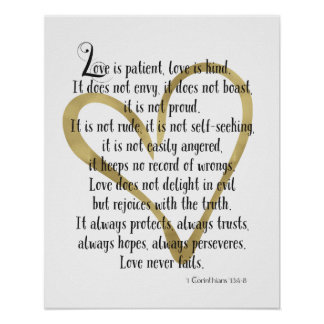 Love is Patient Heart Poster