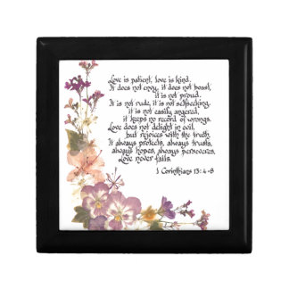 Love is patient keepsake box