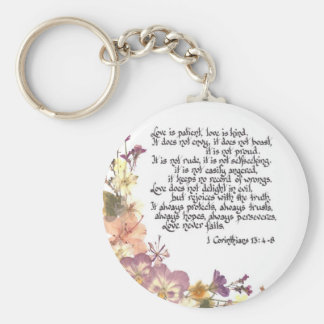 Love is patient key chain