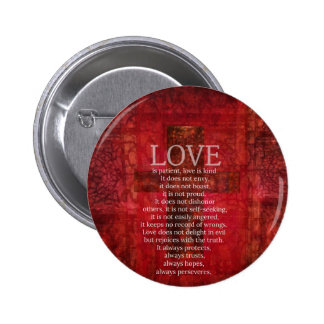 Love Is Patient Love Is Kind Bible Verse Buttons