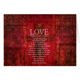 Love Is Patient Love Is Kind Bible Verse Greeting Card