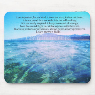 Love Is Patient, Love Is Kind' Bible Verse Mouse Pad