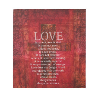 Love Is Patient Love Is Kind Bible Verse Notepad