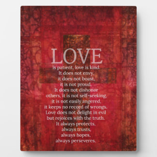 Love Is Patient Love Is Kind Bible Verse Plaque