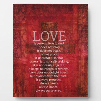 Love Is Patient Love Is Kind Bible Verse Plaque