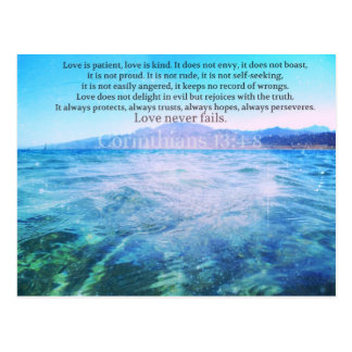 Love Is Patient, Love Is Kind' Bible Verse Postcard