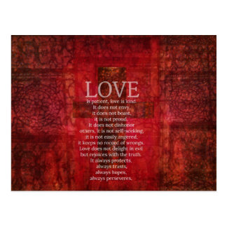 Love Is Patient Love Is Kind Bible Verse Postcard