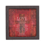 Love Is Patient Love Is Kind Bible Verse Premium Keepsake Boxes