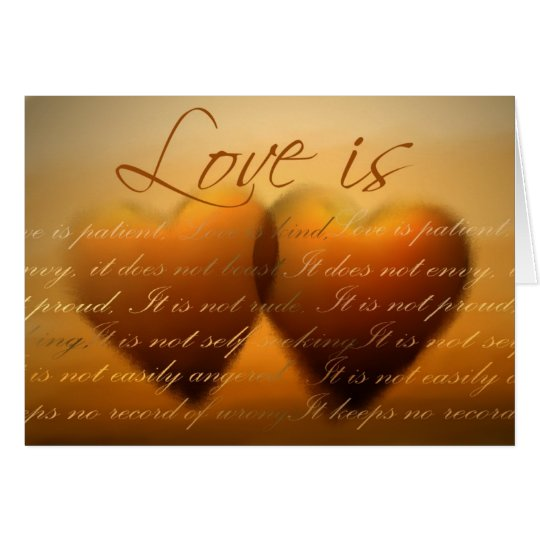 Love is patient; love is kind - Customized Card