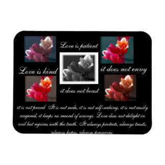 Love is patient,love is kind floral magnet