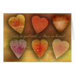 Love is patient; love is kind greeting card