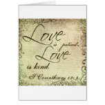 Love is Patient Love is Kind Greeting Cards