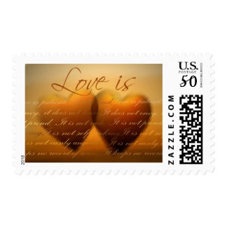 Love is patient; love is kind postage