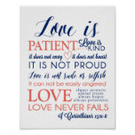 love is patient love is kind Poster