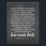 "Love is Patient Love is Kind Print Letterhead<br><div class=""desc"">An uplifting and inspirational line from the Bible. This will fit an 8.5 x 11 frame or an 8 x 10.</div>"