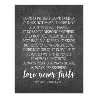 Love is Patient Love is Kind Print Letterhead