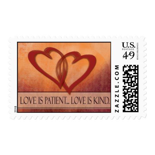 Love is patient ... love is kind Wedding Postage