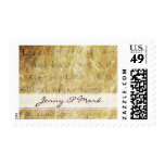 Love Is Patient Love Vintage Wedding Postage Stamp