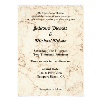Love is Patient Marbled 5x7 Paper Invitation Card